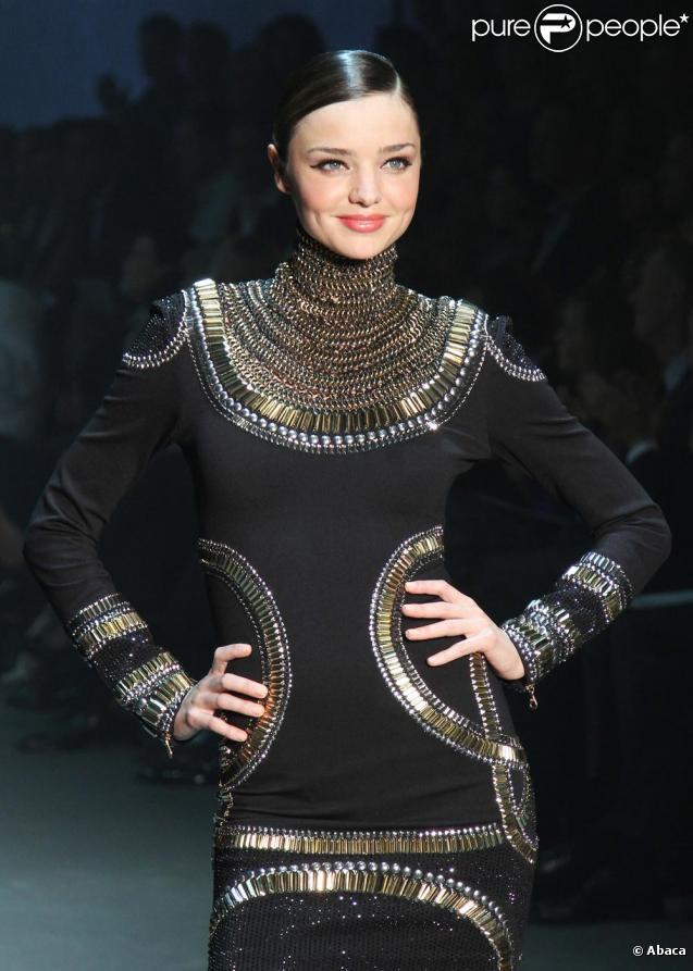 Miranda Kerr lors de la Fashion Week à Sydney le 10 février 2010