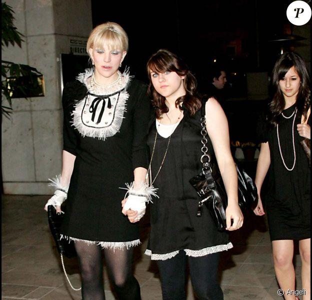 Courtney Love et Frances Bean, anniversaire de Paris hilton, le 25 février 2007 !