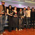 Les gagnants de la cérémonie des Trophées des Jeunes Talents, le 12 février 2010 au cinéma Elysées Biarritz.