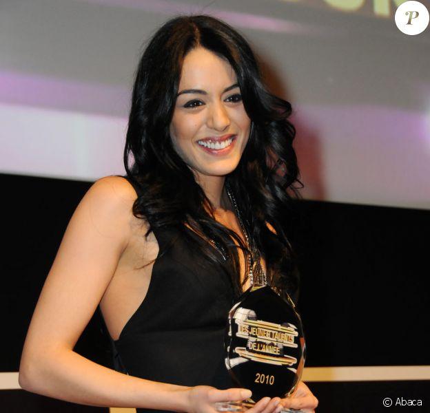 Sofia Essaïdi lors de la cérémonie des Trophées des Jeunes Talents, le 12 février 2010 au cinéma Elysées Biarritz.