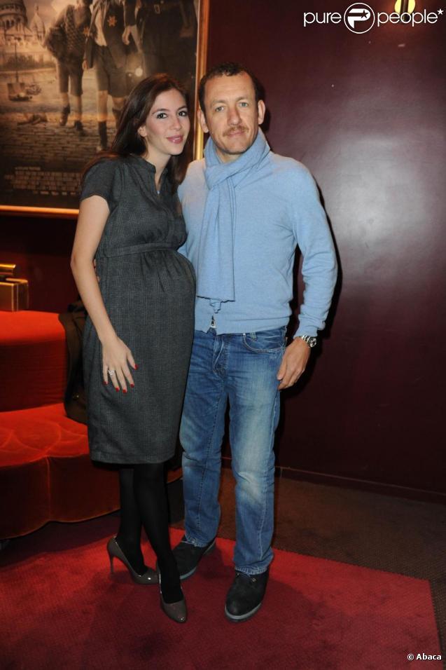 Dany Boon et sa femme Yaël, enceinte, à la première de La Rafle, à Paris. 14/02/2010