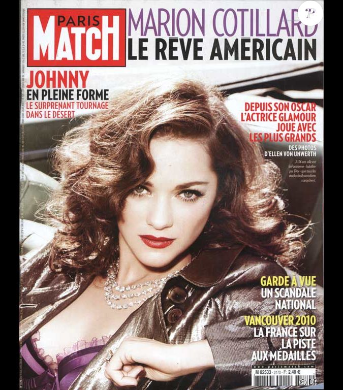 marion cotillard en couverture de paris match. Black Bedroom Furniture Sets. Home Design Ideas
