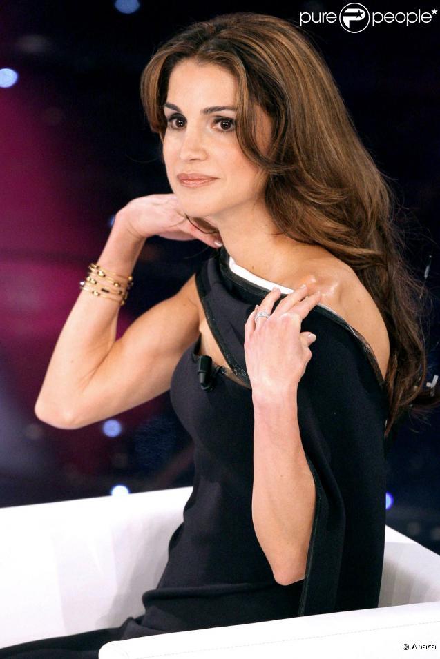 Rania de Jordanie au Festival de San Remo. Le 17 février 2010