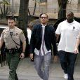 Chris Brown à son arrivée à la Cour de Los Angeles