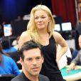 LeAnn Rimes et Eddie Cibrian participent à un tournoi de poker, à Los Angeles. 20/02/2010