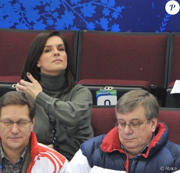 Katarina Witt, spectatrice et ambassadrice de Munich aux Jeux Olympiques de Vancouver