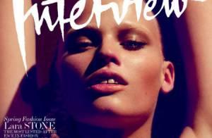 Lara Stone : Après avoir posé façon SM, la future mariée se dit très timide...