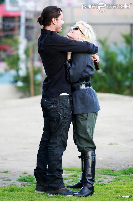 Gwen Stefani et son mari Gavin Rossdale, ainsi que leur fils Kingston dans un parc de Beverly Hills