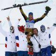 Après avoir éliminé sa compatriote et favorite de l'épreuve Ophélie David, Marion Josserand va chercher la médaille de Bronze en skicross