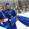 Marie-Laure Brunet et Vincent Jay partage les médailles et leur vie. Le couple cumule quatre médailles : Bronze en poursuite et Argent en relais pour Marie-Laure, Or en sprint 10 km et Bronze sur l'épreuve du 12,5 km poursuite pour Vincent
