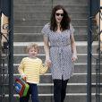 Liv Tyler vient chercher son fils Milo à l'école à Los Deliz le 1er mars 2010