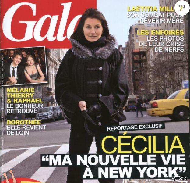 Cécilia Attias en couverture de Gala, en kiosques le 10 mars