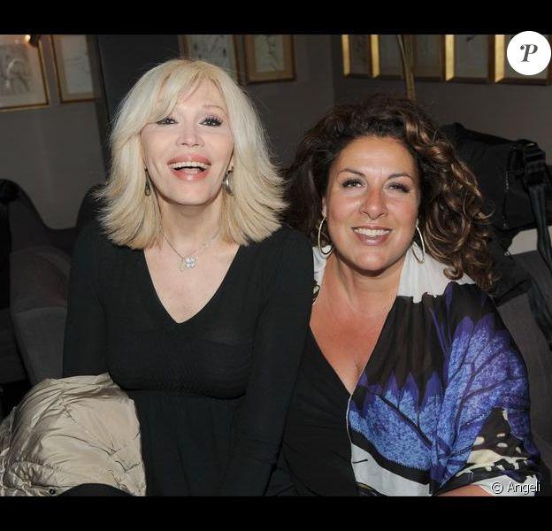 Amanda Lear et Marianne James réunies pour les cinquante ans du Festival International du film d'Animation d'Annecy le 9 mars 2010