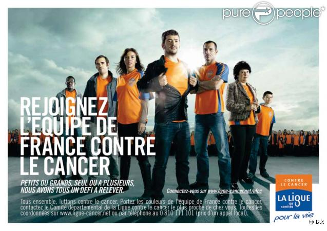 Nâdiya, Grégoire, Christophe Pinna... parrains de l'équipe de France de lutte contre le cancer !