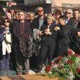 Les obsèques de Jean Ferrat à Antraigues-sur-Volane