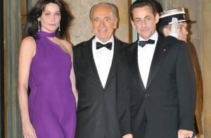 PHOTOS : Hier soir, people et politiques étaient conviés à l'Elysée en l'honneur de Shimon Pérès...