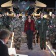 Mathilda May fête les 15 ans de l'armée de l'air