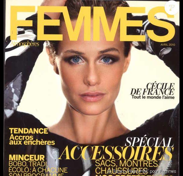 Cécile de France en couverture du magazine Femmes