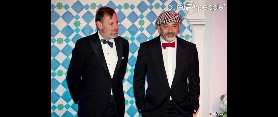 louis benech et christian louboutin au bal de la rose 2010 monaco purepeople. Black Bedroom Furniture Sets. Home Design Ideas