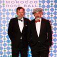 Louis Benech et Christian Louboutin au Bal de la Rose 2010, à Monaco