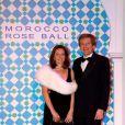 Thierry Boutsen et sa femme au Bal de la Rose 2010, à Monaco