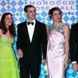 Victoire de Taillac, Pierre Casiraghi et Charlotte Casiraghi au Bal de la Rose 2010, à Monaco