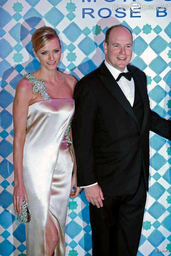 Charlene Wittstock et Albert II de Monaco au Bal de la Rose 2010, à Monaco