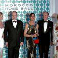 Charlene Wittstock, Albert II de Monaco, Caroline de Hanovre et Frédéric Mitterrand au Bal de la Rose 2010, à Monaco