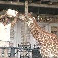 David s'occupe de nourrir Raphy