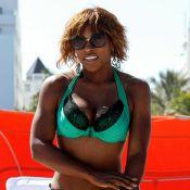 Serena Williams, la championne bodybuildée, fait bronzette dans un maillot de bain en dentelle... très sexy !