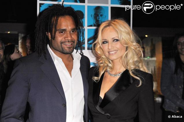 Christian Karembeu et son épouse Adriana assistent à la soirée Trace Sport TV, à Cannes, lundi 12 avril.