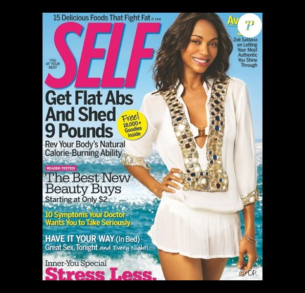 Zoe Saldana en couverture de Self Magazine