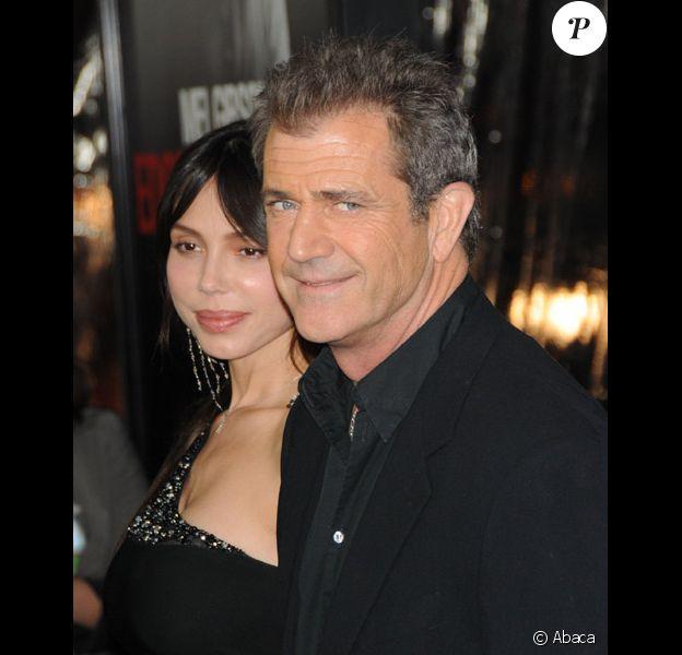 Mel Gibson et Oksana Grigorieva en janvier 2010 à Los Angeles