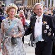 Le roi Constantin II de Grèce, et la reine Anne-Marie de Danemark aux 70 ans de la reine Margrethe de Danemark. Copenhague, le 15/04/2010