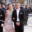 Victoria de Suède et Daniel Westling aux 70 ans de la reine Margrethe de Danemark. Copenhague, le 15/04/2010