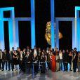 24e Cérémonie des Molières. Tous les lauréats, dont Lionel Erdogan et Olivier Letellier (Molière 2010 du spectacle Jeune public), sont de la partie. 25 Avril 2010