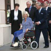Camilla Parker Bowles : Chaud devant, c'est son mari le prince Charles qui est aux commandes de son fauteuil roulant !
