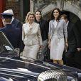 Le 28 avril 2010, la princesse Mary de Danemark reçoit Svetlana Medvedeva au château de Rosenborg