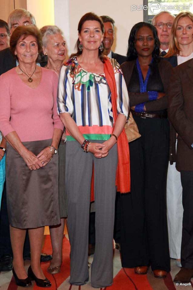 La princesse Caroline lors de l'assemblée générale de l'Amade à Monaco le 30 avril 2010