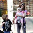 Sarah Jessica Parker avec son fils James, et l'une de ses adorables jumelles !