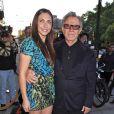 Harvey Keitel et sa fille Stella Keitel lors de la première du film Holy Rollers à New York, le 10 mai 2010