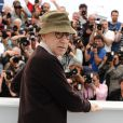 Woody Allen lors du photocall à Cannes pour You Will Meet A Dark Stranger, le 15 mai 2010