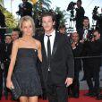 Gaspard Ulliel et sa bien-aimée Jordane lors de la présentation du film Fair Game durant le festival de Cannes le 20 mai 2010
