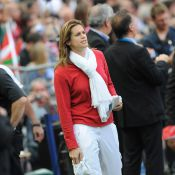 Amélie Mauresmo, radieuse, s'essaye au... rugby, avant de revenir à Roland-Garros !
