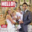 Charlotte Church et Gavin Henson posent avec Ruby pour le baptème de leur fils Dexter en couverture de HELLO! en avril 2010