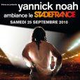 Yannick Noah au Stade de France le 25 septembre 2010