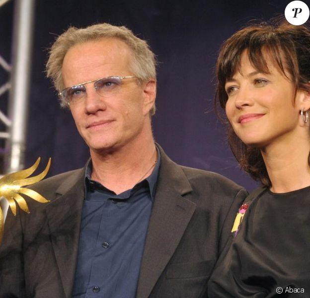Sophie Marceau et Christophe Lambert au Festival de Cabourg, le 12 juin 2010.