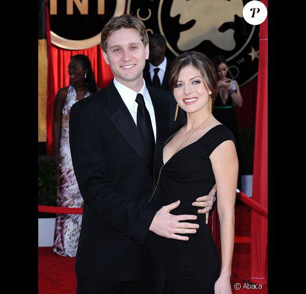 Aaron Staton et sa femme Connie Fletcher sur le tapis rouge des 16èmes Guild Awards en janvier 2010 à Los Angeles