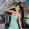 Katy Perry chante à New York, le 15 juin 2010