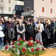 Obsèques de Jean Ferrat à Antraigues-sur-Volane dans l'Ardèche, le 16 mars 2010